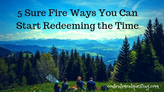 5 surefire ways you can start redeeming the time blog banner