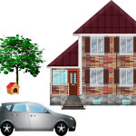 Motivation clip art house and car