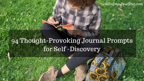 94 Thought-Provoking Journal Prompts for Self -Discovery blog banner