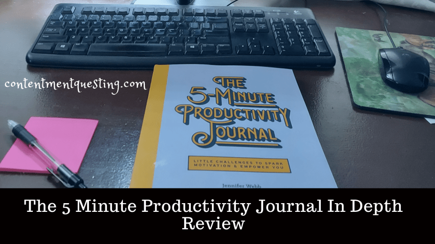 5 minute Productivity Journal review blog baner