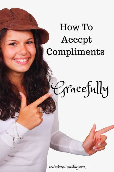 How to accept a compliment gracefully temp 2 girl pointing