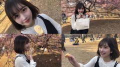 【無修正】145cm色白お嬢様。公園でお弁当デート連続中出し