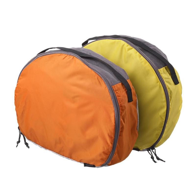 Pack of 2 half moon storage bags for 50 to 60l bags   Quechua