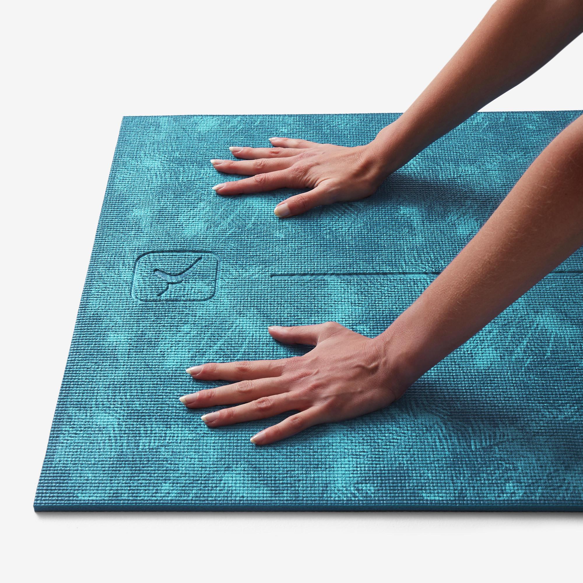 tapis yoga confort 8 mm bleu jungle