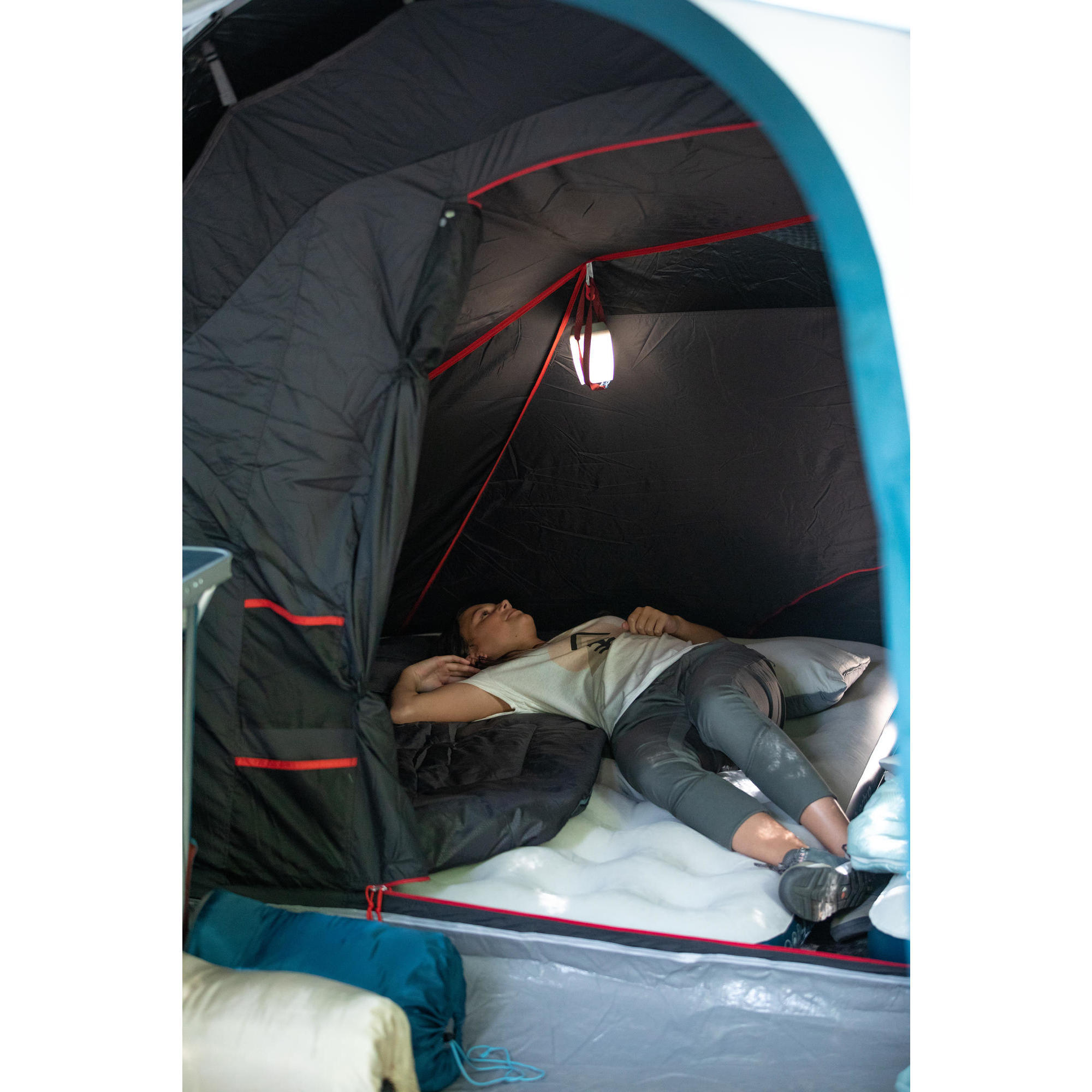 matelas gonflable de camping air basic 120 cm 2 personnes