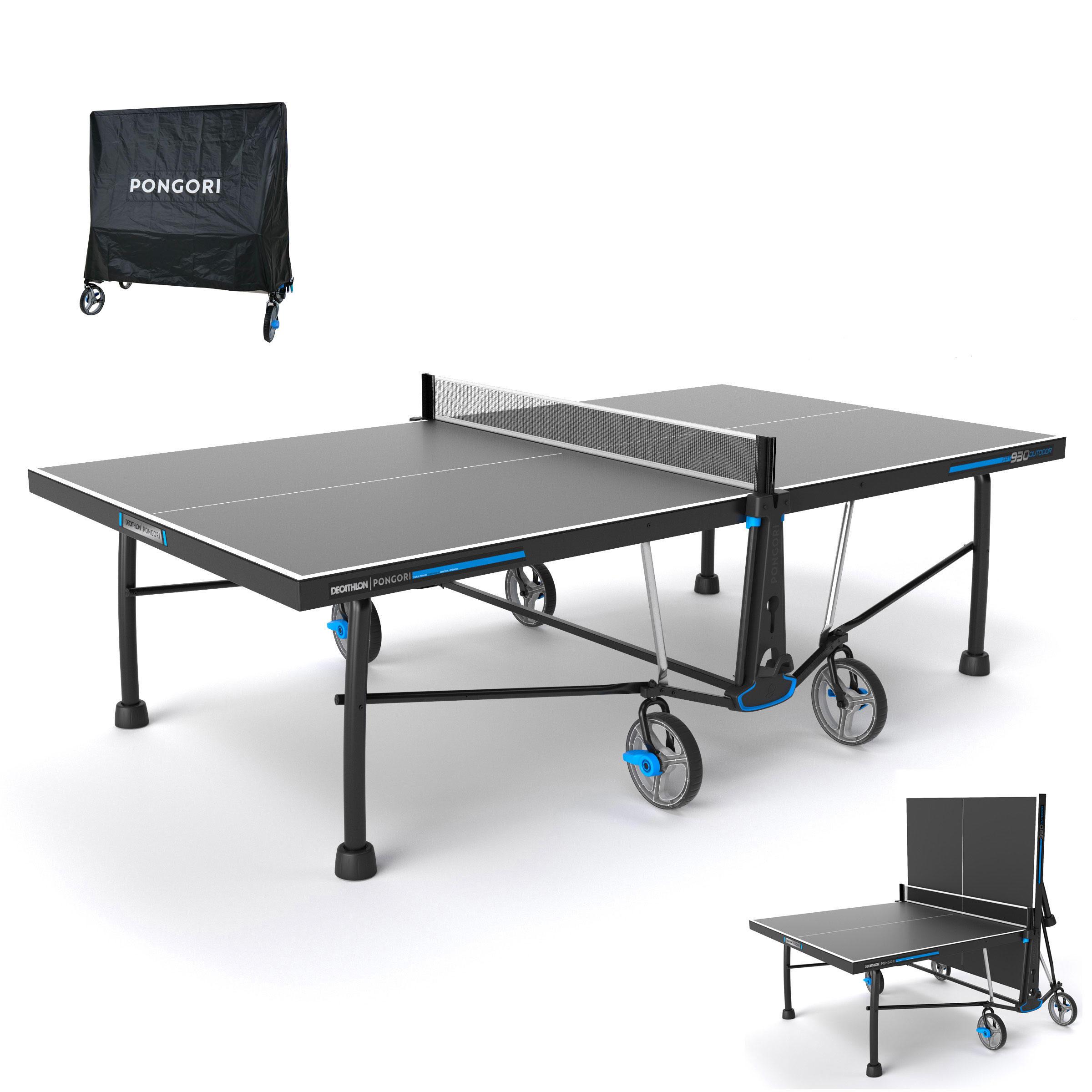 table de ping pong exterieure ppt 930 noire avec housse