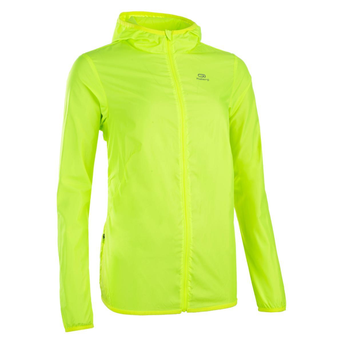 Windjack voor atletiek dames club personaliseerbaar geel