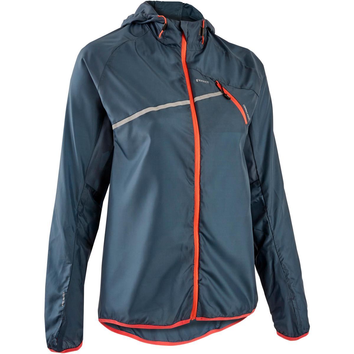 Windjack voor trailrunning dames donkergrijs
