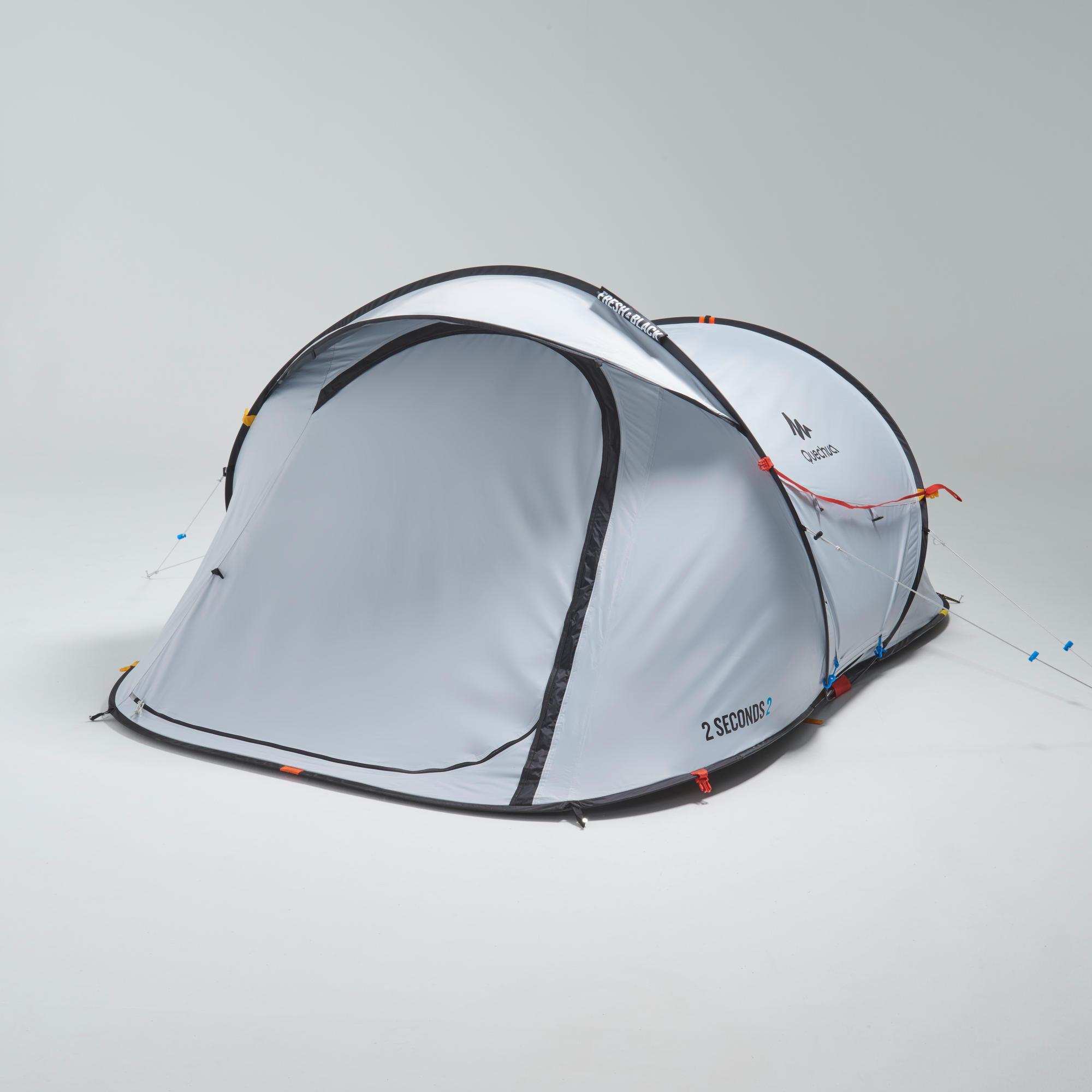 tente de camping 2 seconds fresh black 2 personnes