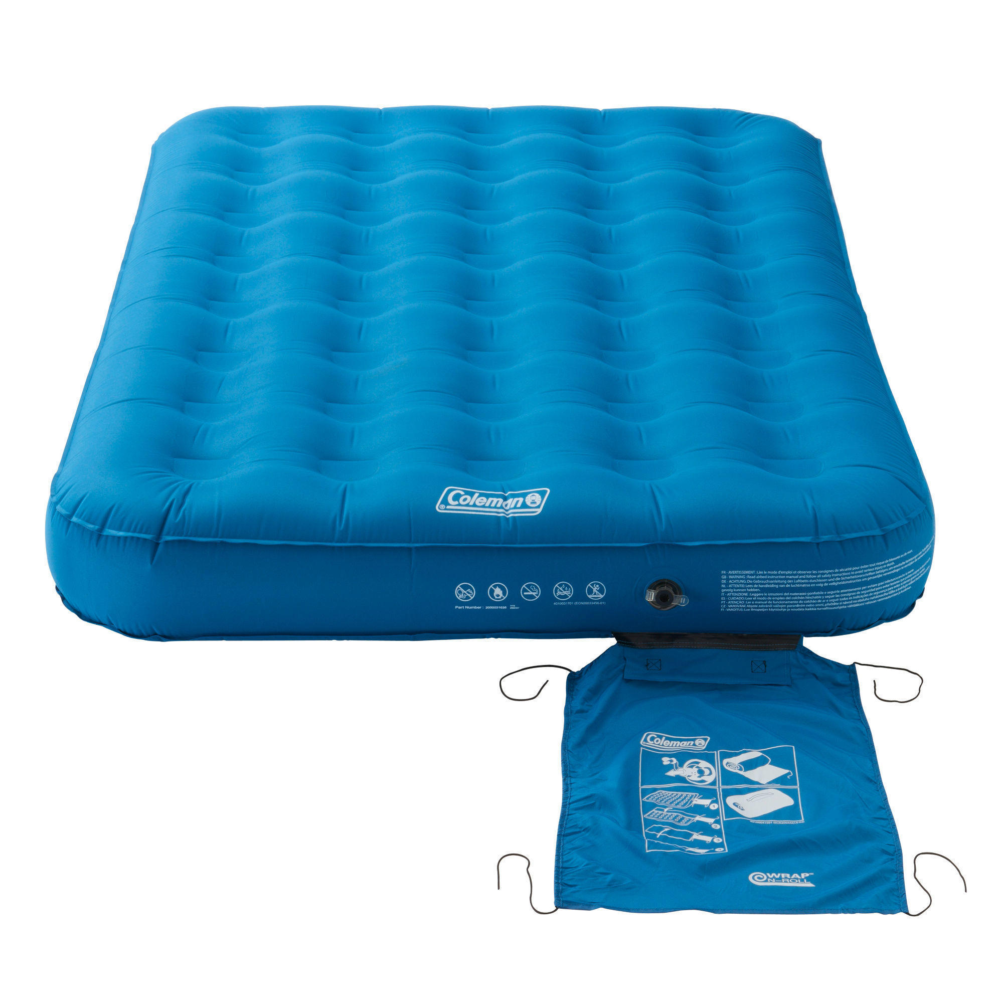 Matelas Gonflable De Camping Extra Durable Airbed 137 Cm 2 Personnes Coleman Decathlon
