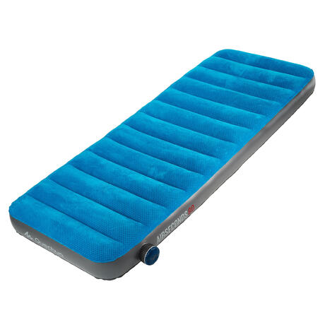 Air Seconds 80 Inflating Camping Hiking Inflatable Mattress 1 Person Blue Quechua