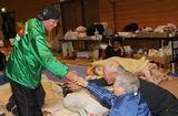 4月1日に宮城県石巻市の避難所を慰問した杉良太郎
