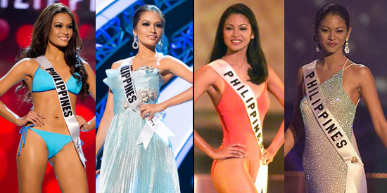 Miss Univivese first runners-up are Thomasians: Janine Tugonon and Miriam Quiambao