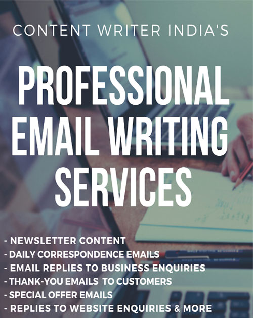 Email Writing Services, India