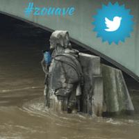 Le Zouave, la star des inondations de Paris