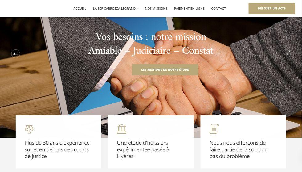contenu-digital-creation-site-internet-communication-scp-carrozza-legrand-hyeres-huissiers-justice