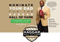 Haggar Hall Of Fame Dads Contest – Stand Chance To Win A Trip To Attending 2018 Pro Football Ceremony