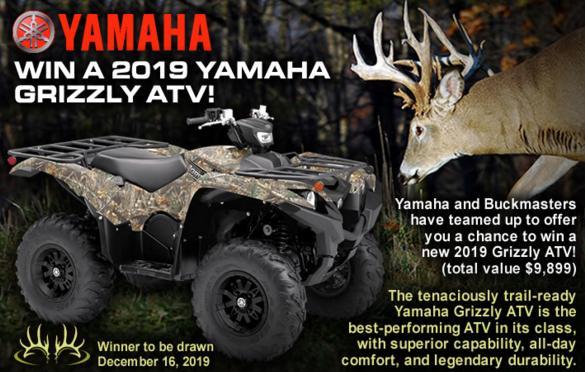 Buckmasters Yamaha Grizzly ATV Sweepstakes