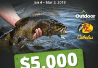 Bass Pro Shops and Cabela and Outdoor Channel Monster Fish Sweepstakes - Enter To Win A $5000 Shopping Spree