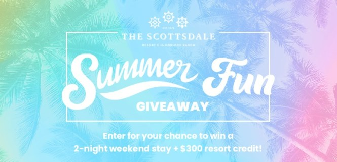Scottsdale Resort At The McCormick Ranch Summer Fun Giveaway