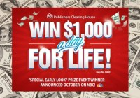 PCH.com Win $1,000 A Day for Life Sweepstakes - Chance To Win $1000000 Cash