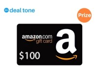 Deal Tone $100 Amazon Gift Card Giveaway