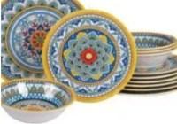 Riverbend Home Portofino Twelve-Piece Melamine Dinnerware Set Giveaway