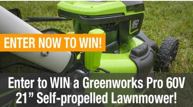 Greenworks Pro 60V Lawnmower Giveaway