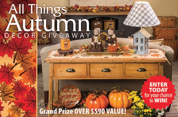Country Sampler Autumn Decor Giveaway