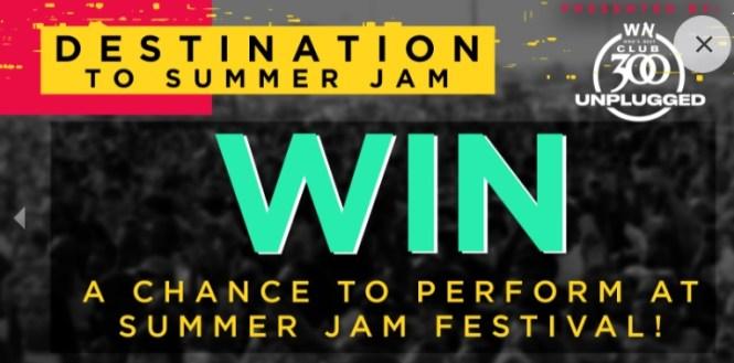 Who Next Destination To Summer Jam Contest