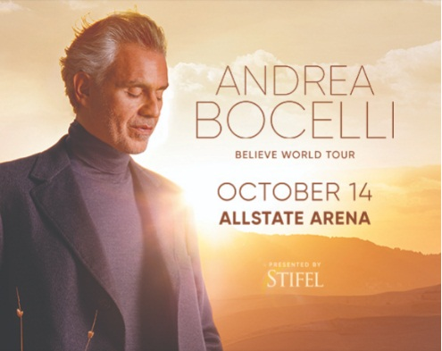 Andrea Bocelli Believe World Tour Sweepstakes - Win Tickets.