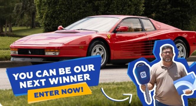 Retornar 1987 Ferrari Testarossa Sweepstakes