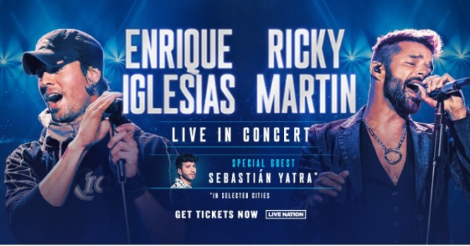 Enrique Iglesias And Ricky Martin LIVE SiriusXM Sweepstakes