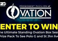 The Promowest Pavilion at Ovation Enter To Win Sweepstakes