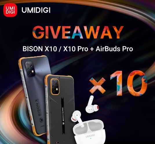UMIDIGI BISON X10 Series And AirBuds Pro Global Giveaway