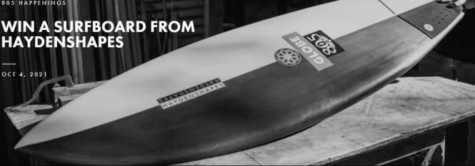805 X Nate Tyler Surfboard Giveaway