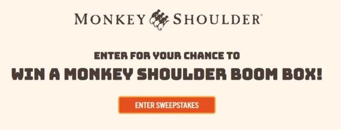 Monkey Shoulder Scotch Whiskey Boom Box Sweepstakes