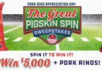 The Great Pigskin Spin Sweepstakes