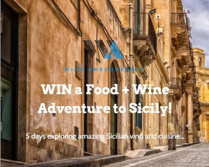 Wine Awesomeness Sicily Wine Adventure Sweepstakes