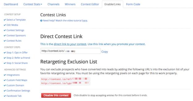 ContestDomination Tracking Links