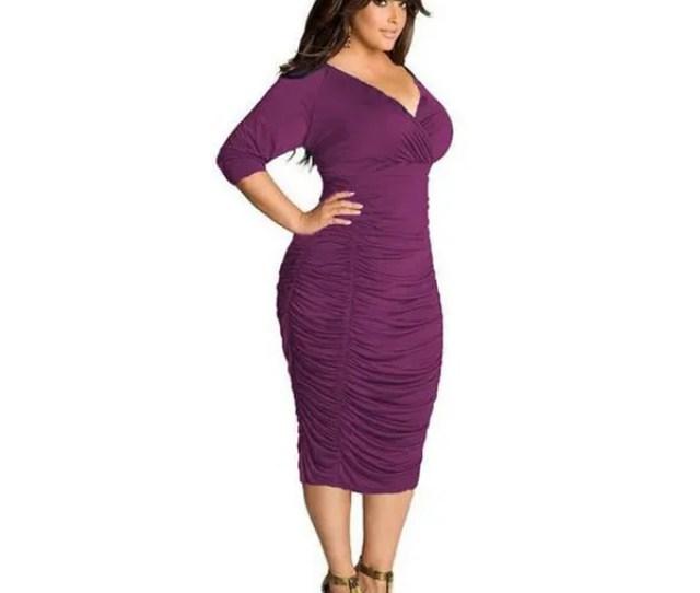Wish Plus Size Bodycon Bandage Dress Bbw Women Long Sleeve V Neck Summer Dress Women Casual Party Mini Dress