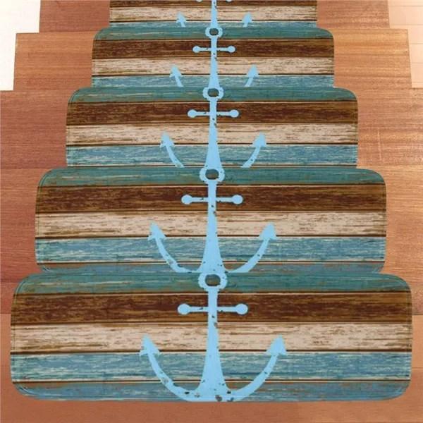 5Pcs Non Slip Washable Stair Rugs Stair Treads Stair Carpet Tread   Rubber Stair Nosing For Carpet   Metal Stair   Aluminium Stair   Wood   Anti Slip   Non Slip