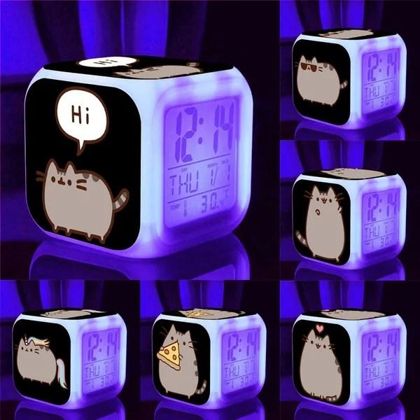 Cute Cartoon Pusheen Alarm Clock Kids