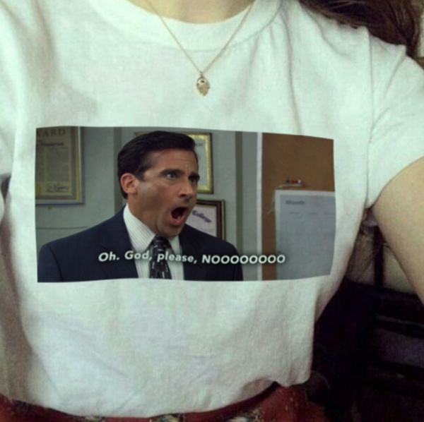 Summer Fashion Top Tee Oh God No Unisex The Office Tv Shows Quotes