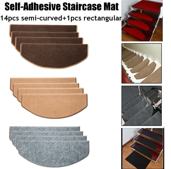 15Pcs Stair Tread Carpet Mats Step Staircase Non Slip Mat   Non Slip Stair Treads For Carpeted Stairs   Walmart   Skid Resistant   Basement Stairs   Indoor Stair   Slip Resistant