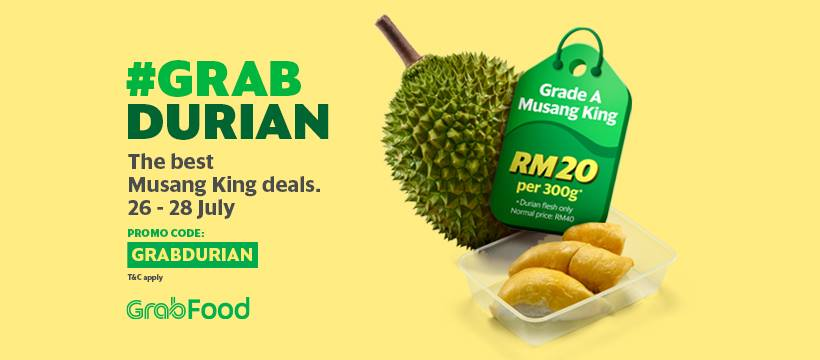 Enjoy #GrabDurian Deals With GrabPay & GrabFood This Weekend!