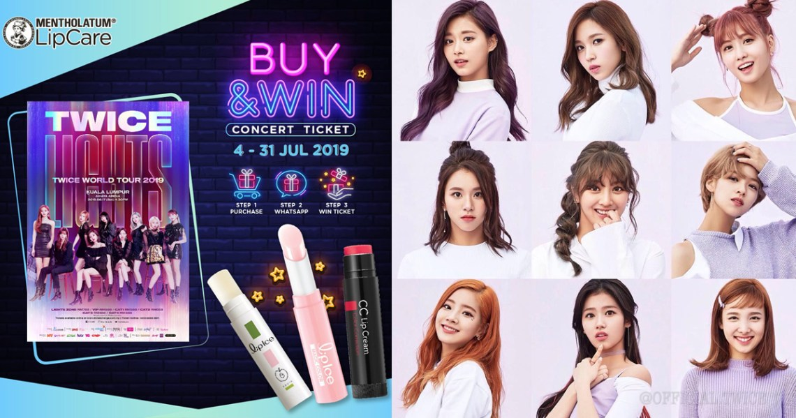Buy Lipice At Watsons & Win Tickets To TWICE WORLD TOUR 2019