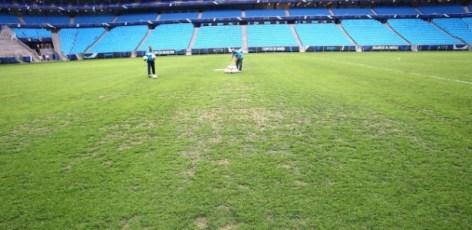 Resultado de imagem para gramado arena gremio