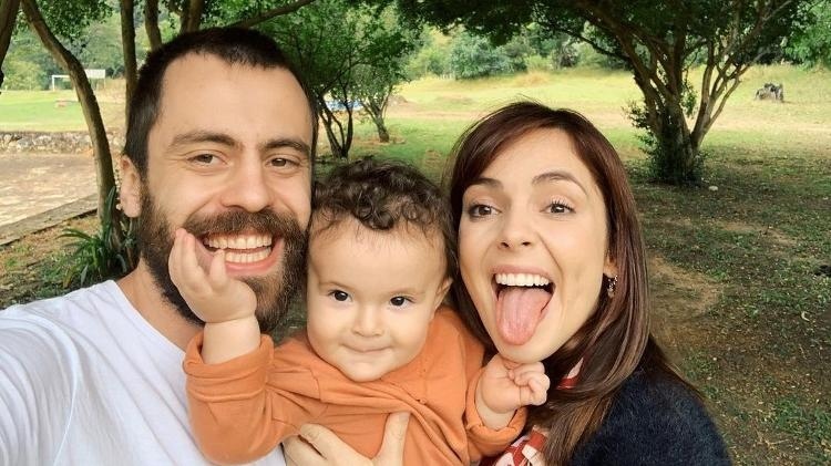 Titi Müller with her ex-husband and son Benjamin;  the presenter split recently - Reproduction/Instagram - Reproduction/Instagram