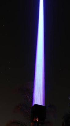 Um dos lasers que será usado no próximo show do DJ, dia 19 - Reprodução/Instagram - Reprodução/Instagram